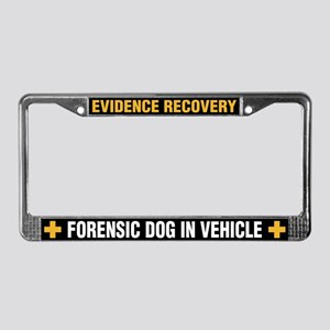 K-9 Forensics License Plate Frame