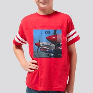 (5)2 p40s tigers teeth Youth Football Shirt
