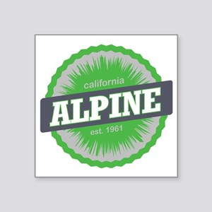 "Alpine Meadows Ski Resort C Square Sticker 3"" x 3"""