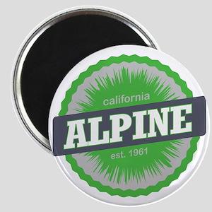 Alpine Meadows Ski Resort California Lime G Magnet