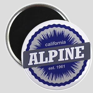 Alpine Meadows Ski Resort California Navy B Magnet