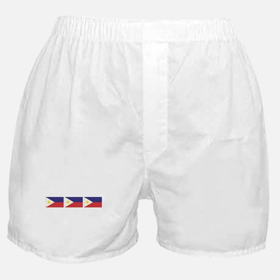 3 Philippine Flags Boxer Shorts