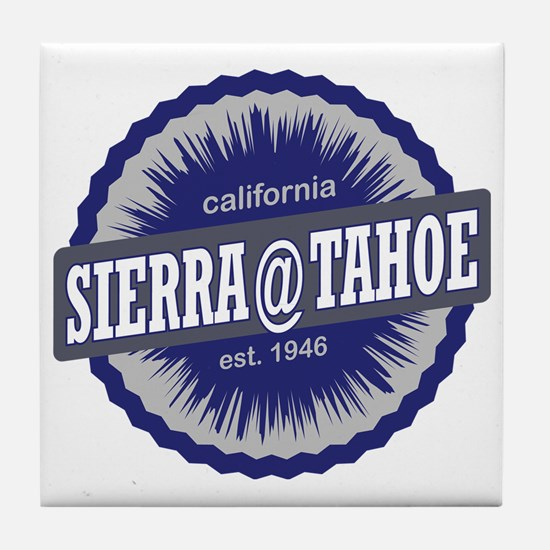 Sierra-at-Tahoe Ski Resort California Tile Coaster