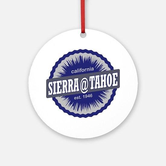 Sierra-at-Tahoe Ski Resort Californ Round Ornament
