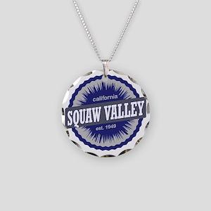 Squaw Valley Ski Resort Cali Necklace Circle Charm