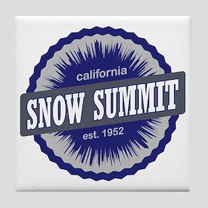 Snow Summit Ski Resort California Nav Tile Coaster