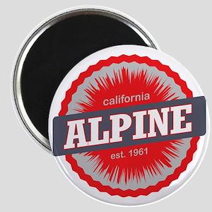 Alpine Meadows Ski Resort California Red Magnet