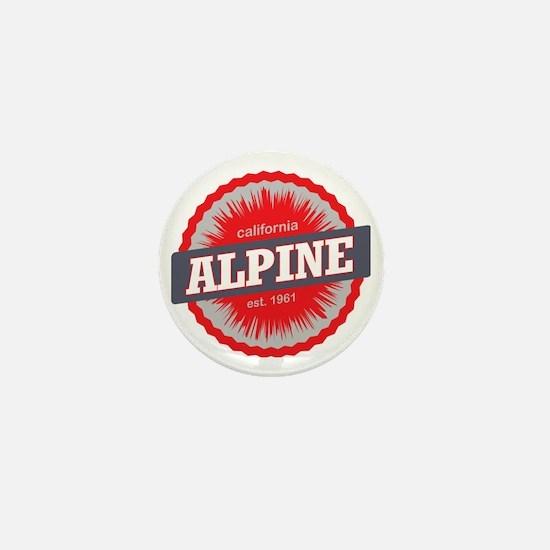 Alpine Meadows Ski Resort California R Mini Button