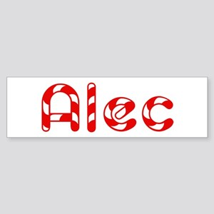 Alec - Candy Cane Bumper Sticker