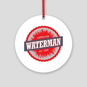 Mount Waterman Ski Resort Californi Round Ornament