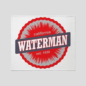 Mount Waterman Ski Resort California Throw Blanket