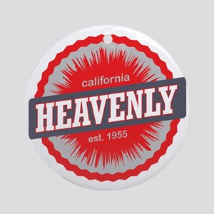 Heavenly Mountain Ski Resort Califo Round Ornament