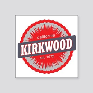 "Kirkwood Mountain Ski Resor Square Sticker 3"" x 3"""