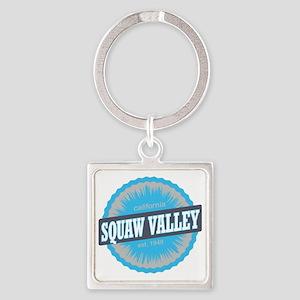Squaw Valley Ski Resort California Square Keychain