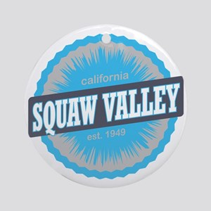 Squaw Valley Ski Resort California  Round Ornament