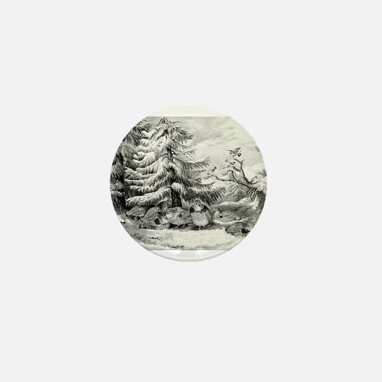 Snowed up - ruffed grouse in winter - 1867 Mini Bu
