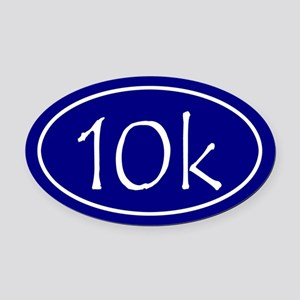 Blue 10k Oval Oval Car Magnet