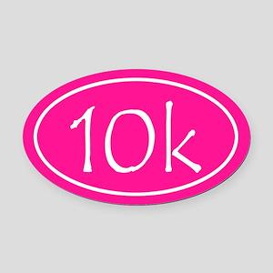 Pink 10k Oval Oval Car Magnet
