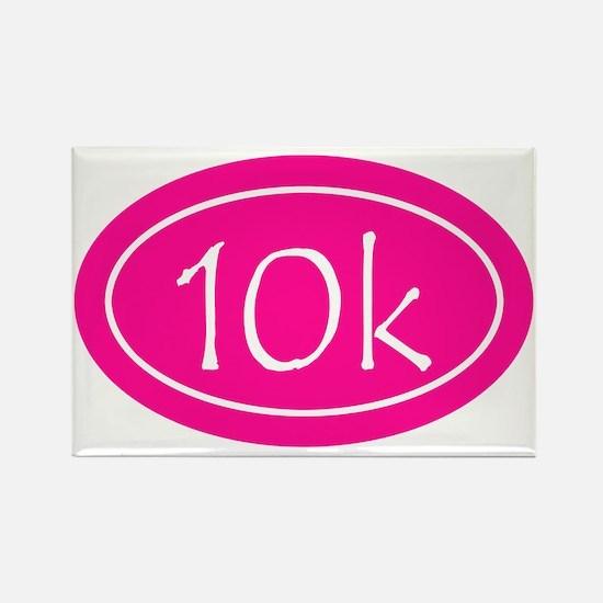 Pink 10k Oval Rectangle Magnet