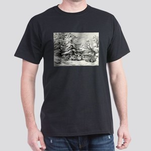 Snowed up - ruffed grouse in winter - 1867 T-Shirt