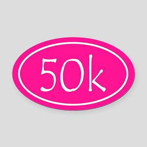 Pink 50k Oval Oval Car Magnet