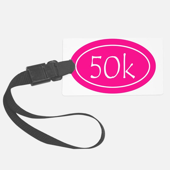 Pink 50k Oval Luggage Tag