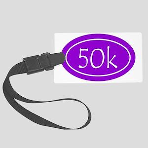 Purple 50k Oval Large Luggage Tag