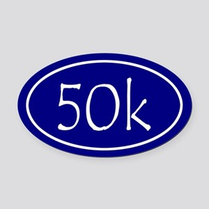 Blue 50k Oval Oval Car Magnet