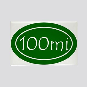 Green 100 mi Oval Rectangle Magnet