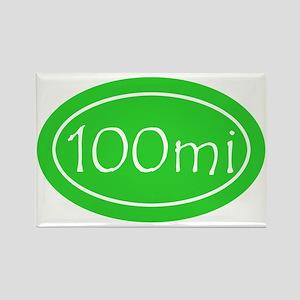 Lime 100 mi Oval Rectangle Magnet