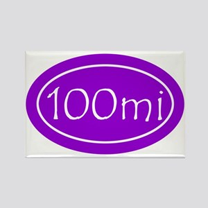 Purple 100 mi Oval Rectangle Magnet