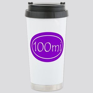 Purple 100 mi Oval Stainless Steel Travel Mug