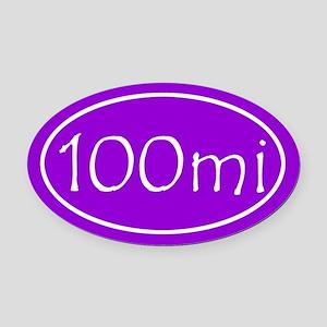 Purple 100 mi Oval Oval Car Magnet