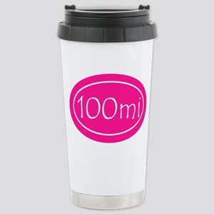 Pink 100 mi Oval Stainless Steel Travel Mug