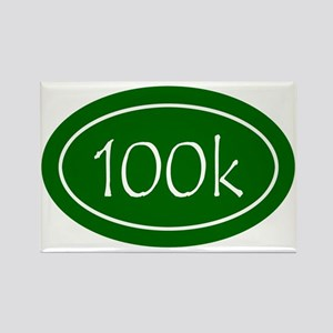 Green 100k Oval Rectangle Magnet