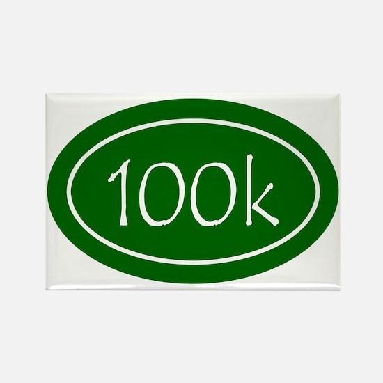 Green 100k Oval Rectangle Magnet
