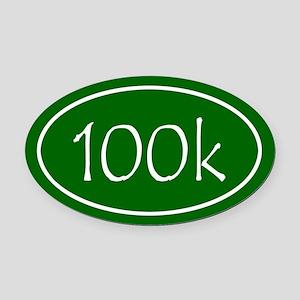 Green 100k Oval Oval Car Magnet