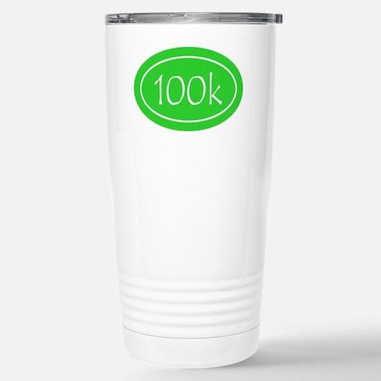 Lime 100k Oval Stainless Steel Travel Mug