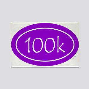 Purple 100k Oval Rectangle Magnet
