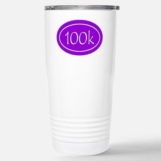 Purple 100k Oval Stainless Steel Travel Mug