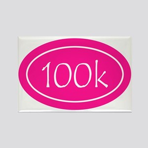 Pink 100k Oval Rectangle Magnet