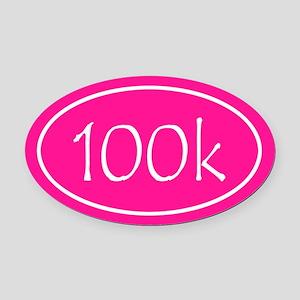 Pink 100k Oval Oval Car Magnet