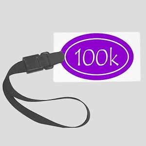 Purple 100k Oval Large Luggage Tag