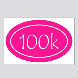 Pink 100k Oval Postcards (Package of 8)
