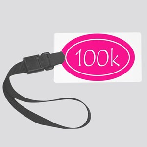 Pink 100k Oval Large Luggage Tag