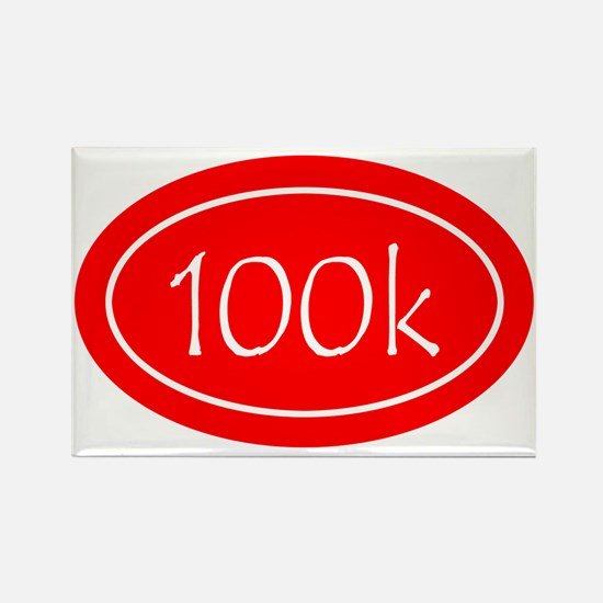 Red 100k Oval Rectangle Magnet