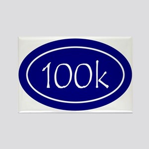 Blue 100k Oval Rectangle Magnet