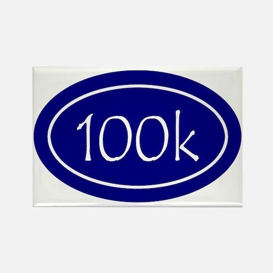 Blue 100k Oval Rectangle Magnet