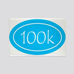 Sky Blue 100k Oval Rectangle Magnet