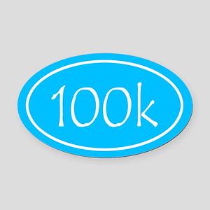 Sky Blue 100k Oval Oval Car Magnet